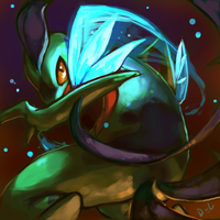 Speedpaint: Riley the Grovyle by Delano-Laramie