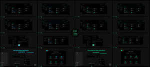 Full Black Cyan and Green Theme For Windows 10 by Cleodesktop