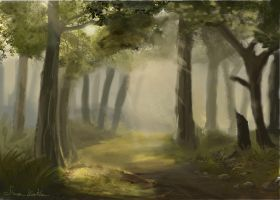 Speed Paint Forest by Wolfclaw2009
