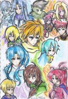 Golden Sun The Lost Age Mains by Akane-Churi