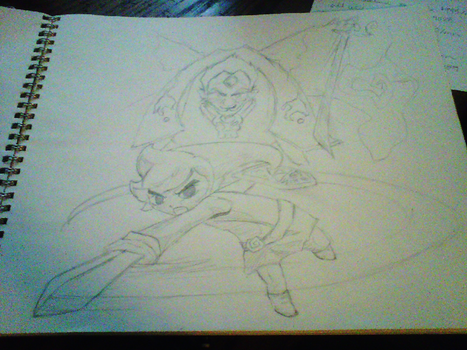 WIP: Wind Waker - Link and Ganondorf by empy3