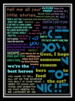 Random text on black background with white border by Valo616