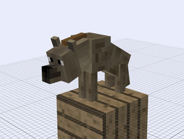 My Minecraft Animals: spotted hyena by benios912