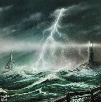 Ocean Storm by jerry8448