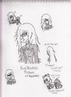 Fem!Togami sketches by Kitty-of-Doom524