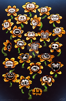 Flowey Faces by lazyperson202