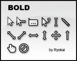 Bold Cursor Set v1.0 By Ryokai by Ryokai