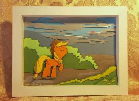 After the rain (Shadowbox with pony). by SatynaPaper