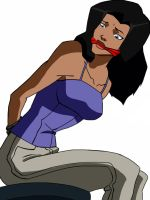 Young Justice Zatanna Gagged by TheOneAndOnlyCaptor