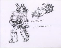 Autobot sketch 'Halftrack' by Jepray