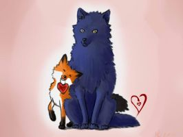 foxAndwolf by Sairentonen