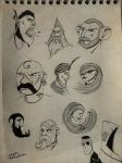 Face sketches 6 : spheres by Mocrasar