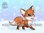 Fox in the snow by Veemonsito