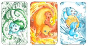 kanto starters by ravenoath