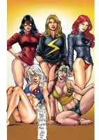 Comics Girls Colors by Troianocomics