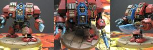 40K Blood Angels Librarian Dreadnought by Budsky