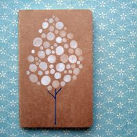 Snow Tree Original Moleskine by Angela-Vandenbogaard