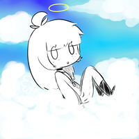 In the Clouds by Momojjii