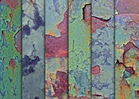 Grungy Green Chipping Paint Textures by sdwhaven