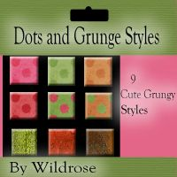 Dots and Grunge Styles by AngelMoon17