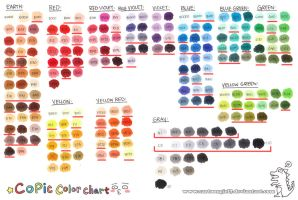 Copic Color Chart: 2010 by cartoongirl7