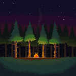 Campfire in the Forest by wrangler249