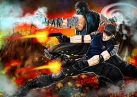 Stryker-Sub Zero.. Battle on Netherrealm by Grapiqkad