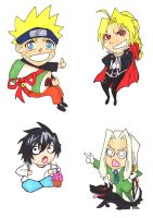 Anime Stickers :D by Hafukyoudai