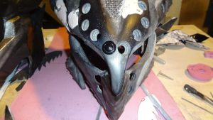 Daedric helm version 2 pic 5 WIP by livebyhonor