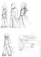 -CONCEPT ART- CHARACTERS 01 by sonicbommer