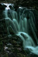 Waterfall in the night by padika11