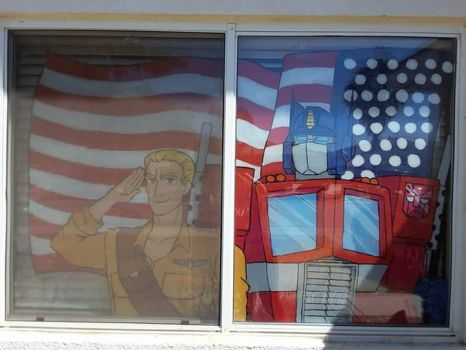 4th of July Window Painting by BlitzingBullet