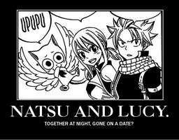 Natsu and Lucy - Motivational poster. by EllieBimbo