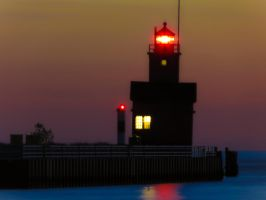 Lighthouse at Twilight by VividThorn