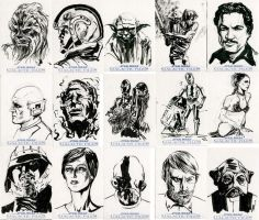 Star Wars Sketch Cards - Rebel Alliance I by clayrodery