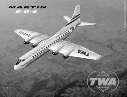 TWA's Martin 6-O-4 airliner by Bispro