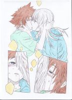 Sora Riku Deep Kiss colored by Sorika