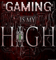 Gaming Is My High - White w/ Background by 86248Diamond