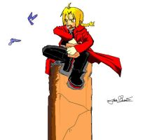 Edward Elric in Paint by Ian-B