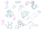 sketch dump 11-16-12 by Darkwolfhellhound