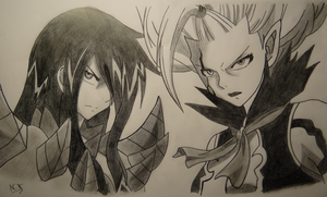 Erza Scarlet and Mirajane (Satan Soul) by Jennux3