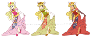 ST trio themed Zelda by SeaboardBlue