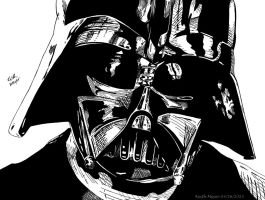Darth Vader (Ink) by KeithMeyerArt