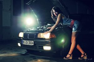 Cora and the Car I by ChrisK-photo
