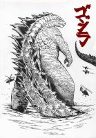 Godzilla - King of Monsters by Xavison
