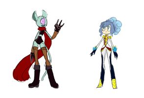 Stella and Nina alternate designs by LuluDig