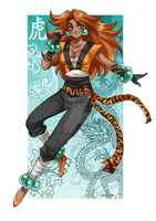 Tiger Goddess Ghira by Berylunee