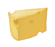 I drew some cheese today. by Nalenthi