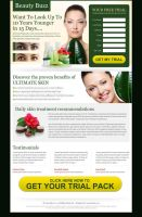 Beauty product landing page by semantic123