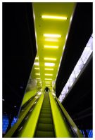 Neon Stairway by banjoeskimo